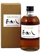 Akashi White Oak Blended Japanese Whisky 50 centiliter Whisky Japan 40 procent alkohol