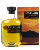 Balblair Vintage 2004 Travel Retail 1 liter Single Highland Malt Whisky 46%