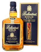 Ballantines Gold Seal 12 year old 1 liter Old Version Blended Whisky 43%