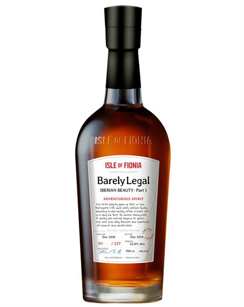 Barely Legal Adventurous Spirit Nyborg Distilery Organic Single Malt Danish Whisky 53,8%