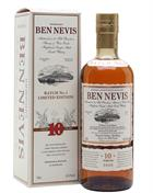 Ben Nevis 2008/2018 10 år Triple Cask Batch 1 Single Highland Malt Whisky 62,4 procent og 70 centiliter