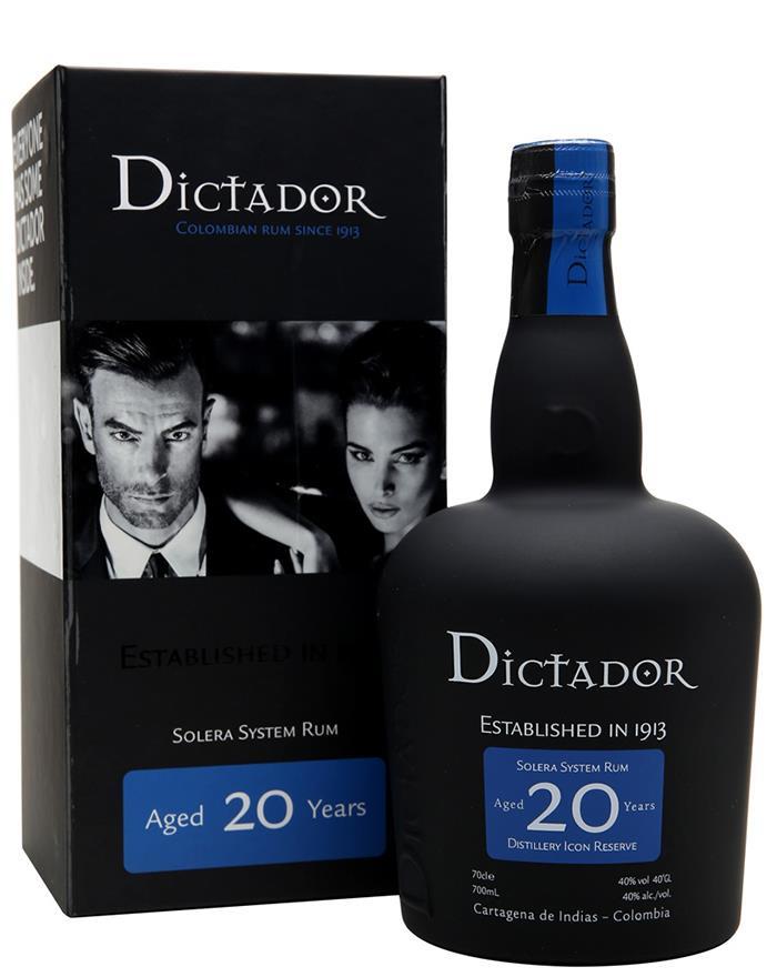 40 20 år Dictador 20 år Solera lækker rom 40 20 år