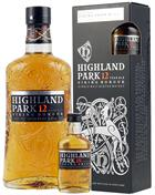 Highland Park Gavesæt 12 år Viking Honour og Viking Pride 18 år Miniflaske  Single Malt Skotsk Whisky