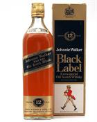 Johnnie Walker Black Label 12 år Kilmarnock 75 cl Blended Whisky 40%