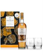 Macallan Amber GIFTBOX med 2 glas Single Speyside Malt Whisky 40%