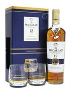Macallan Double Cask 12 år Limited Edition GIFTBOX med 2 glas Single Speyside Malt Whisky 40%