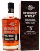 Rebel Yell 10 year old Single Barrel 100 Proof Kentucky Straight Bourbon Whiskey 70 cl