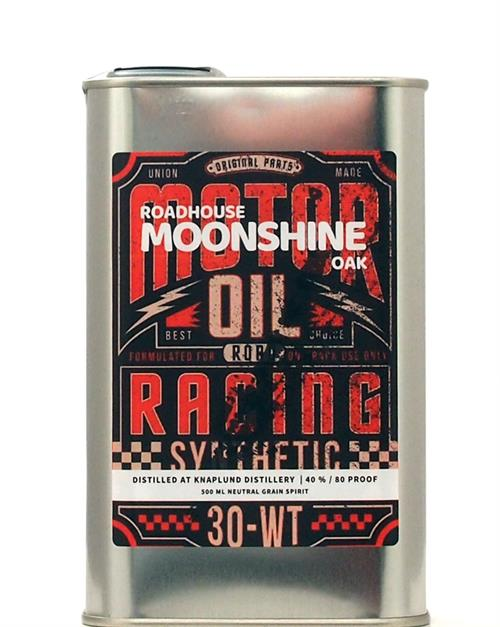 Roadhouse Motoroil Tin Can Oak Moonshine Neutral Grain Spirit 50 cl 40%