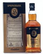 Springbank 21 år Single Cask Ping XII Juuls Single Campbeltown Malt Whisky 48%