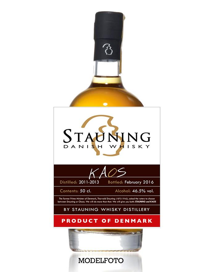 Folkekære Stauning KAOS 2016 Dansk Single Malt Whisky 46,5% DX-22