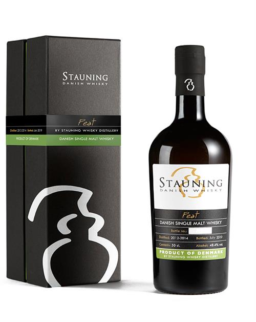 STAUNING PEAT WHISKY 2012/2019 Dansk Single Malt Whisky 48,4%