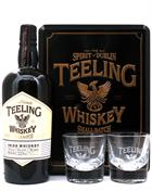 Teeling Giftbox Small Batch Rum Cask Blended Irish Whiskey 46% inkl. 2 glas