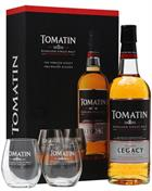 Tomatin Legacy med 2 glas Single Highland Malt Whisky 43%