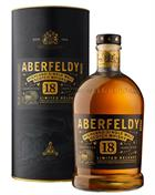 Aberfeldy 18 år Single Malt Highland Whisky 40%