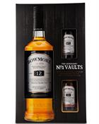 Bowmore 12 år 70 cl Giftbox 2 x 5 cl Single Islay Malt Whisky 40%
