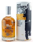 6 flakser af Port Charlotte PC6 Bruichladdich Single Islay Malt Whisky 61,6%