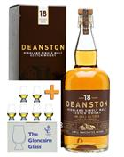 Deanston 18 år + 6 Glencairn Pakketilbud Single Highland Malt Whisky 46,3%