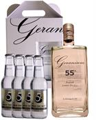 Geranium sampak 55 Premium London Dry Gin Hammer and son