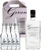 Geranium Gin KIT incl 4 x Gents Tonics London Dry Gin Hammer and son England 70 cl 44%