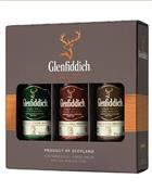 Glenfiddich Gavesæt 12+15+18 år Miniature / Miniflaske 5 cl Single Malt Scotch Whisky 40%