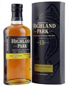 Highland Park 15 år Single Orkney Malt Whisky 40%