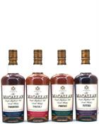 Macallan Travel Series 1920,1930,1940,1950s 4 x 50 cl. NO BOX Single Speyside Malt Whisky 40%