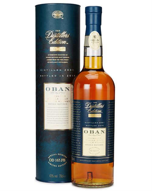 Oban Distillers Edition 2001/2016 Single Highland Malt Whisky 43%
