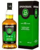 Springbank 15 år  Single Campbeltown Malt Whisky