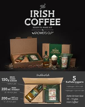 Growers cup Kit Irish Coffee Kit med Tullamore Dew 35 cl. Irish Whiskey 40%